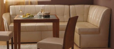 Кожаные диваны на кухню: элегантный элемент для трапез