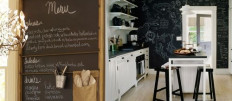 Грифельная доска в интерьере современной кухни