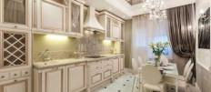Популярные модели кухонь светлых оттенков