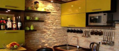 Варианты декоративной отделки стен на кухне
