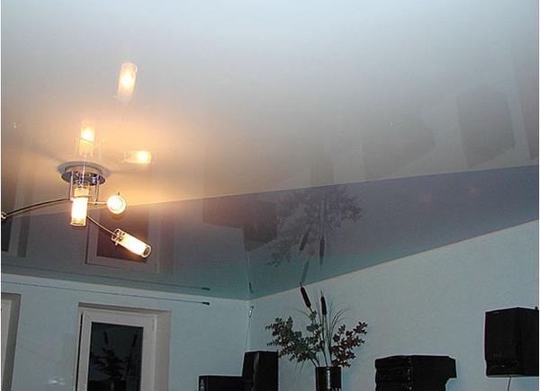 тканевые натяжные потолки фото clipso