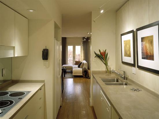 Фото дизайна маленькой кухни. интерьер маленькой