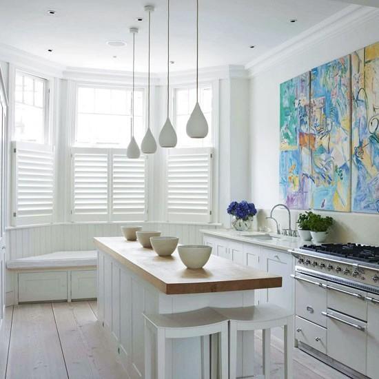 Дизайн интерьера белые кухни фото