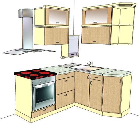 кухня в хрущевке с газовой колонкой на фото