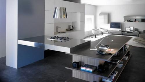 совмещенная кухня с гостиной дизайн интерьера