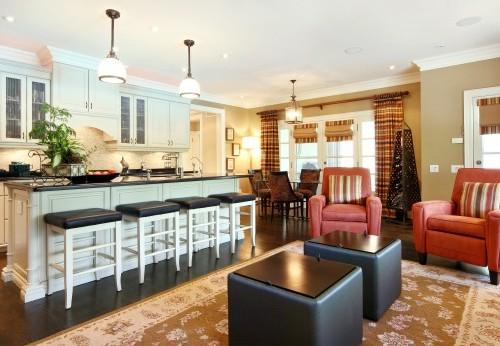 совмещенная кухня с гостиной