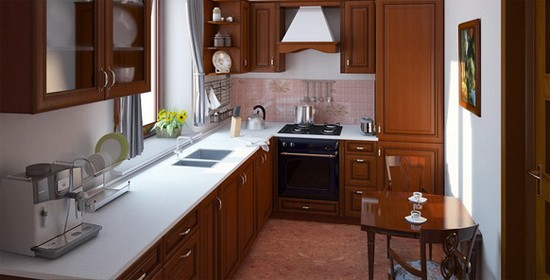 маленькая кухня в фотогалерее