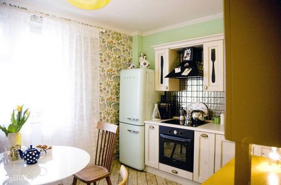кухонные фотообои в интерьере фото