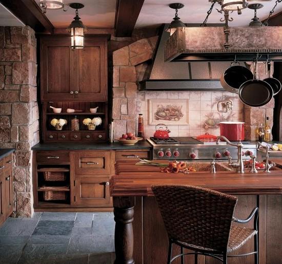 кухня в деревенском стиле (11)