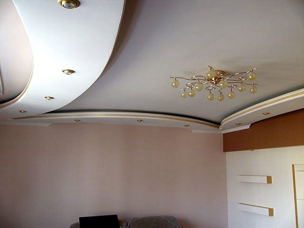 Гипсокартон потолок своими руками фото кухня