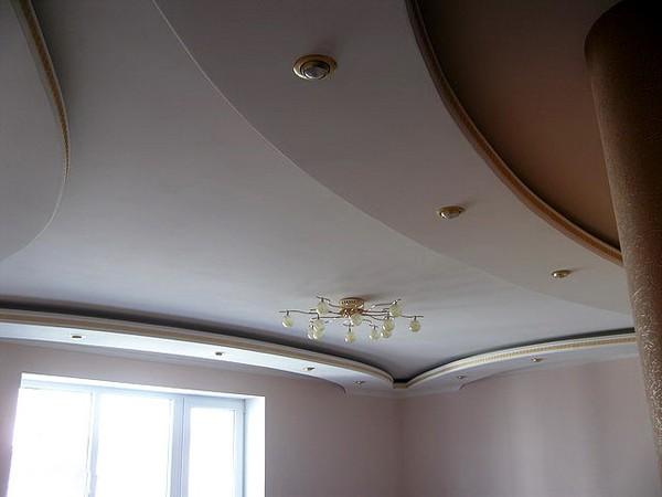 потолки из гипсокартона на кухне (15)