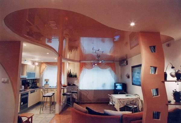 потолки из гипсокартона на кухне (11)