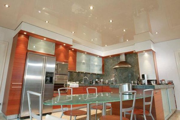 потолки из гипсокартона на кухне (3)