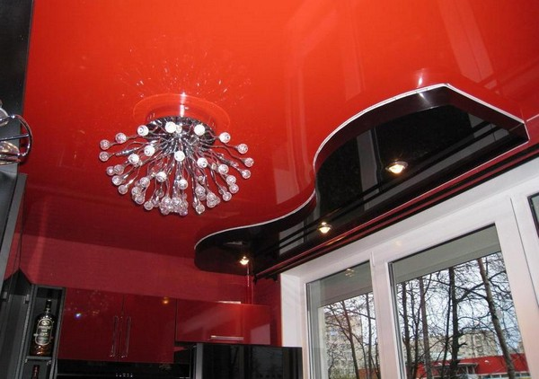потолки из гипсокартона на кухне (1)