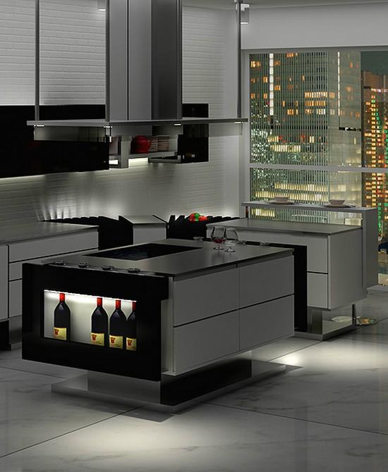 кухни в стиле хай тек фото (17)