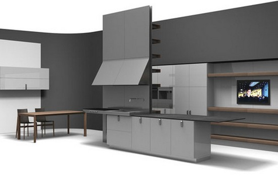 кухни в стиле хай тек фото (12)