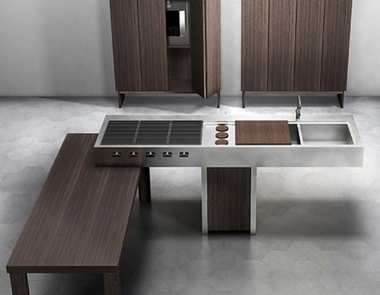кухни в стиле хай тек фото (8)