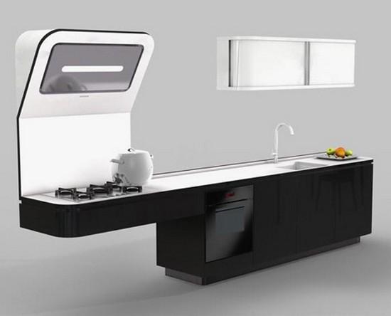 кухни в стиле хай тек фото (2)