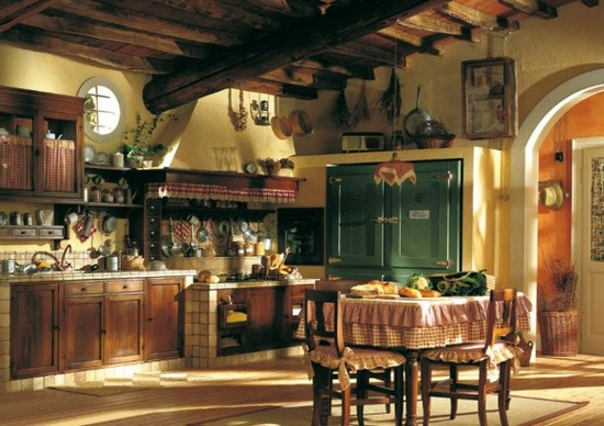 кухни в стиле кантри фото (6)