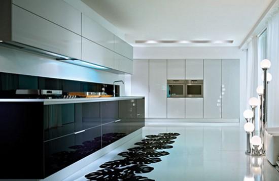 Стиль минимализм в интерьере кухня 16