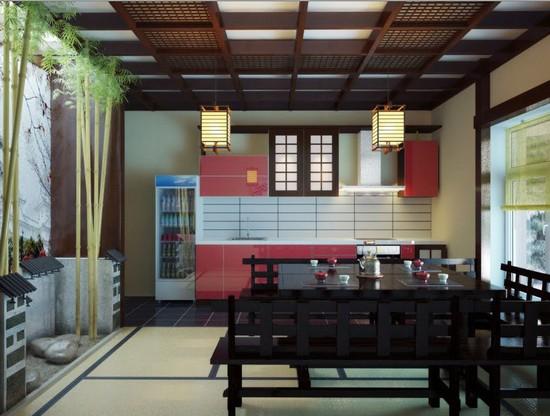 кухни в японском стиле (14)
