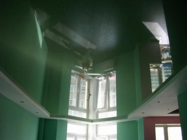 натяжные потолки на кухне фото (21)