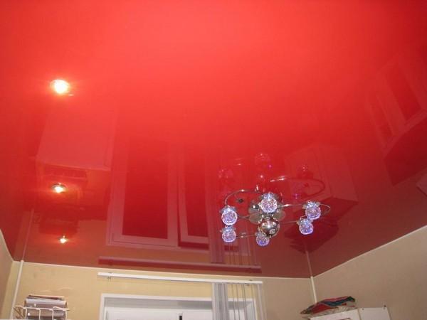 натяжные потолки на кухне фото (20)