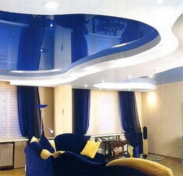 натяжные потолки на кухне фото (18)