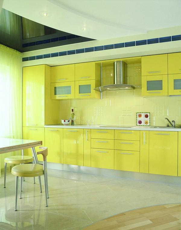 натяжные потолки на кухне фото (12)