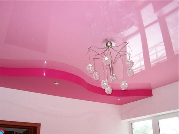 натяжные потолки на кухне фото (11)