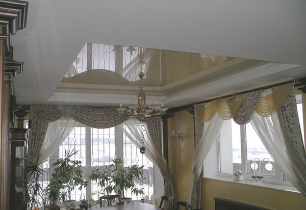 натяжные потолки на кухне фото (5)