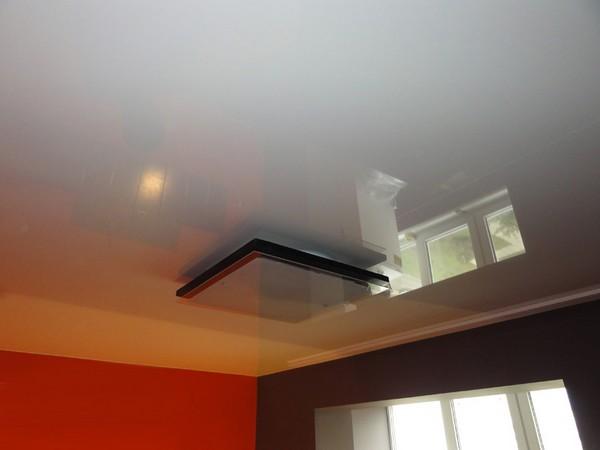 натяжные потолки на кухне фото (2)