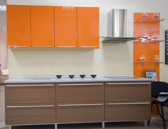 фото оранжевой кухни (25)