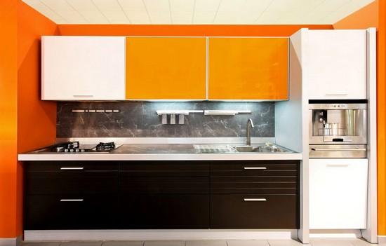 фото оранжевой кухни (24)
