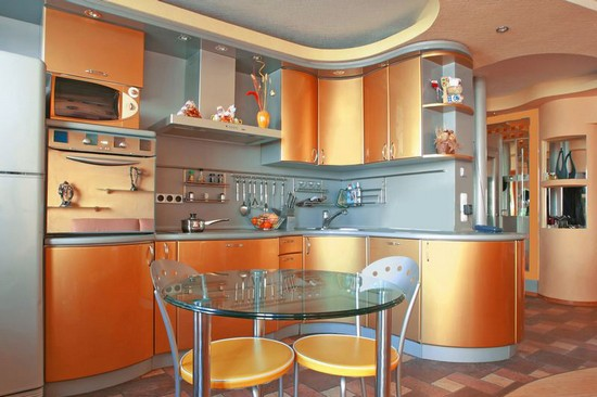 фото оранжевой кухни (22)