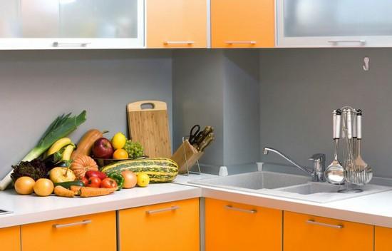 фото оранжевой кухни (20)