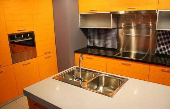 фото оранжевой кухни (19)