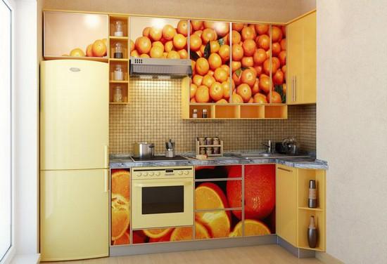 фото оранжевой кухни (18)