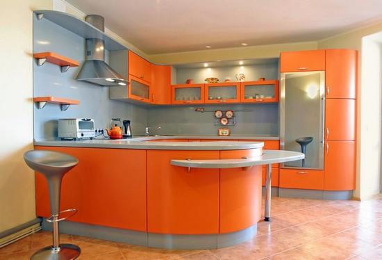 фото оранжевой кухни (17)