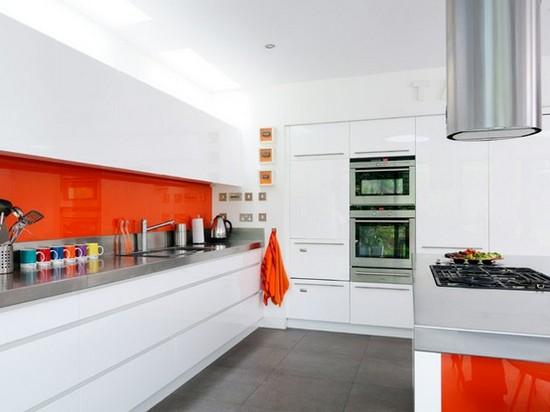 фото оранжевой кухни (16)