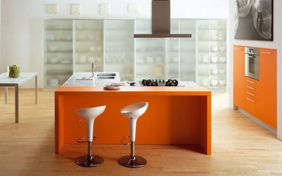 фото оранжевой кухни (14)