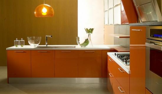 фото оранжевой кухни (13)