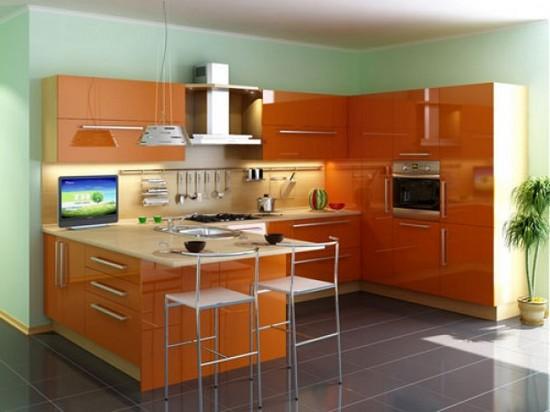 фото оранжевой кухни (12)