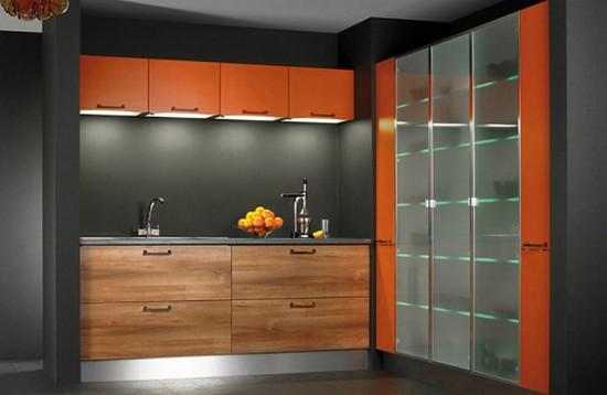 фото оранжевой кухни (10)