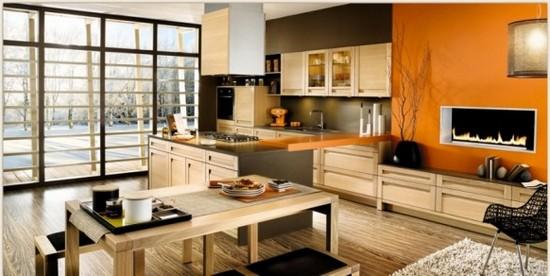 фото оранжевой кухни (9)