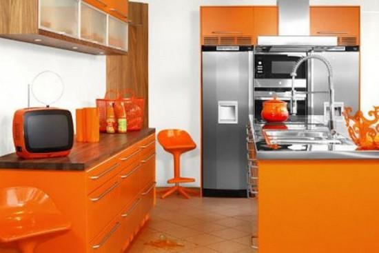 фото оранжевой кухни (8)