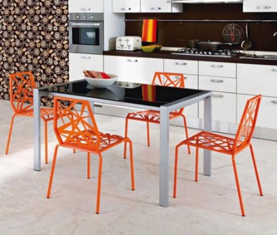 фото оранжевой кухни (6)