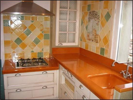 фото оранжевой кухни (5)
