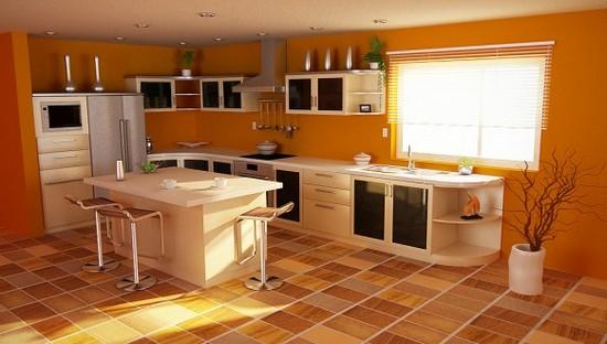 фото оранжевой кухни (4)