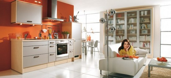 фото оранжевой кухни (3)